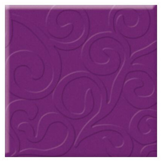 Płytka ścienna Vermilia Purpura inserto szklane A 9,8x9,8 Paradyż