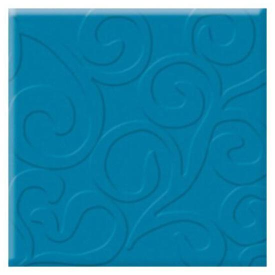 Płytka ścienna Vermilia Azzurro inserto szklane A 9,8x9,8 Paradyż