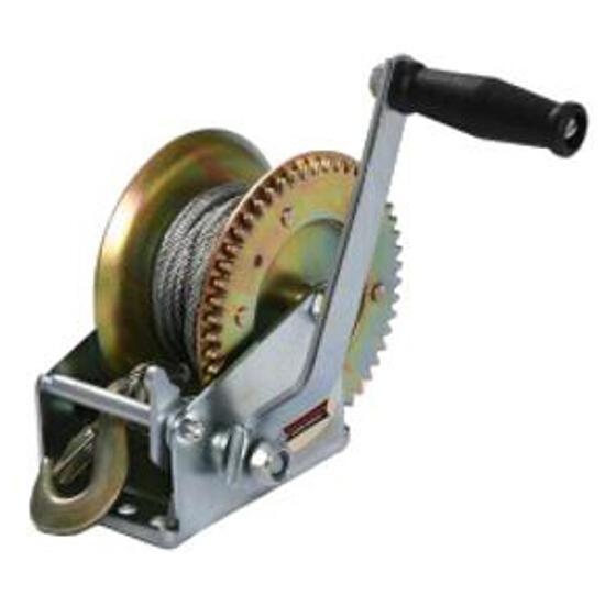 Wyciągarka korbowa ręczna DWK 1600 z liną stalową Dragon Winch
