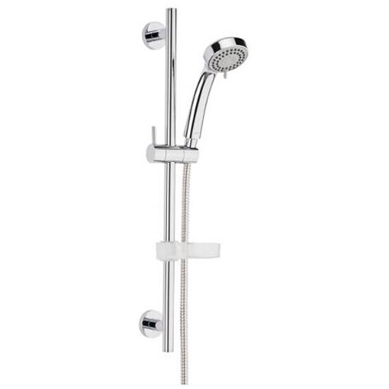 Zestaw prysznicowy VERNA z 3-funkcyjną rączką natrysku z drążkiem WM3SKVE2Z000001 Roca Zoom