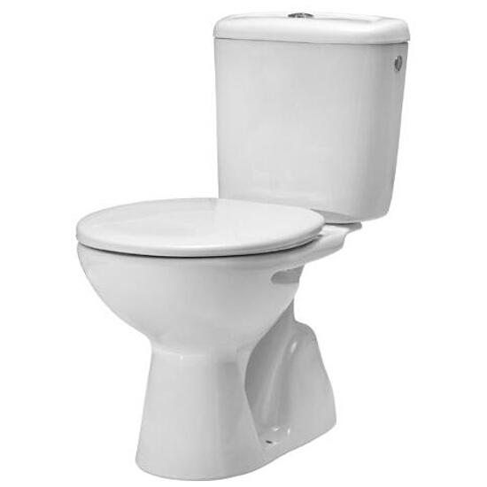 Miska WC stojąca kompaktowa MADALENA odpływ pionowy WM821MD7Z000002 Roca Zoom