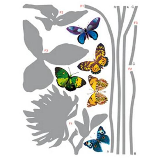 Naklejka dekoracyjna motyle F00405 Ergis