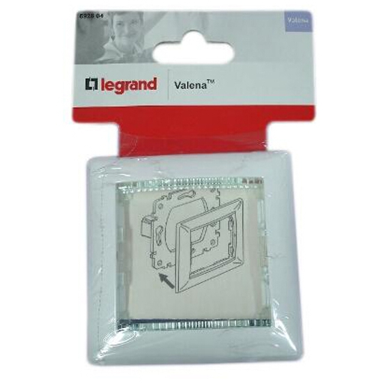 Ramka VALENA pojedyncza 774461 biały crystal Legrand