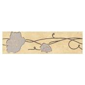 Płytka ścienna Tesalia giallo listwa kwiatek 33,3x9,3 Cersanit