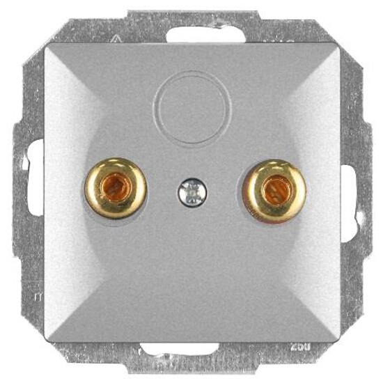 Gniazdo głośnikowe modułowe PERŁA moduł PT-2GP srebrny Abex