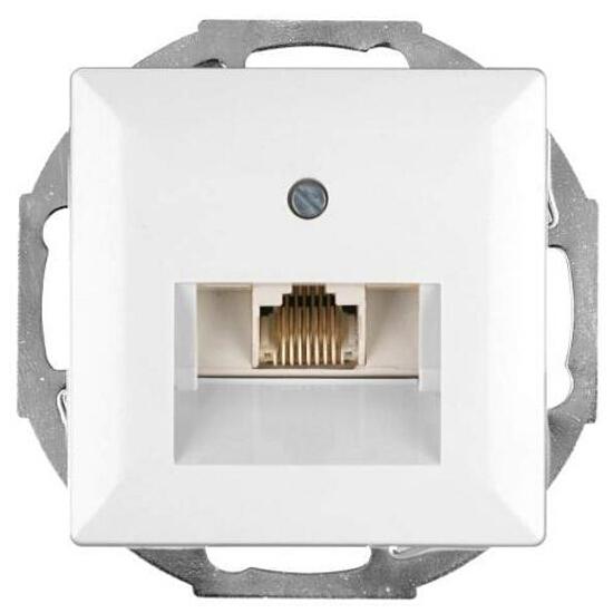 Gniazdo modułowe PERŁA telefoniczno-komputerowepojedyn. GTP-10P biały Abex