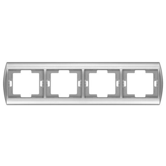 Ramka NOVA poczwórna pozioma RA-4N srebrny Abex