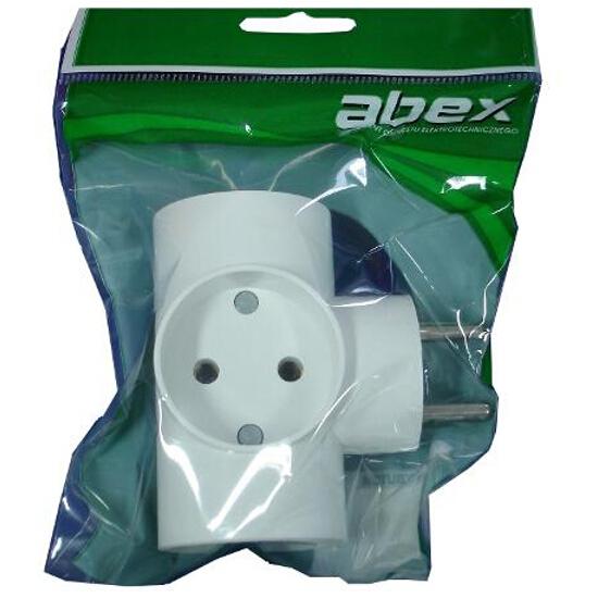 Rozgałęźnik 3x2P R-30 rozgałęziacz biały Abex