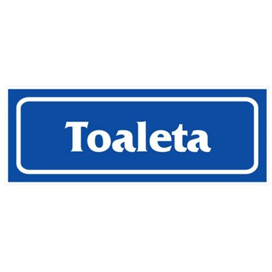 """Znak informacyjny """"Toaleta"""" Z-R18-F rozm. 90x240 ANRO"""