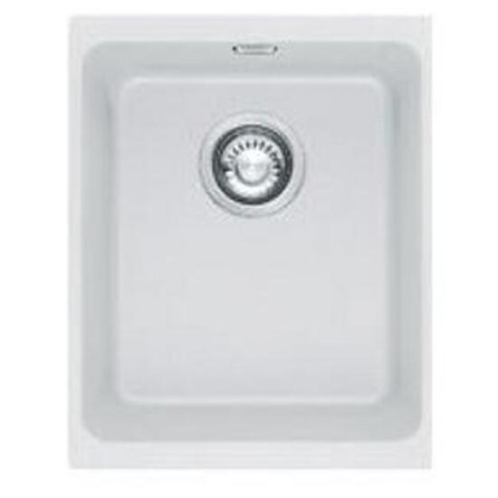 Zlewozmywak granitowy Kubus KBG 110-34 biały polarny 125.0158.602 Franke