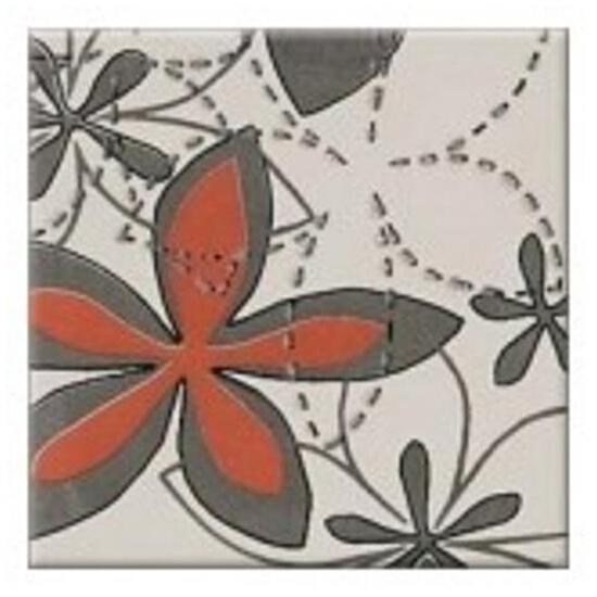 Płytka ścienna centro Aplauz flower szary 2 10x10
