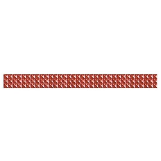 Płytka ścienna Jazz czerwień geo 59,3x5,4