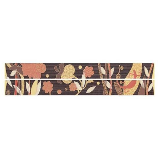 Płytka ścienna Symfonia brown listwa modern 4,8x45