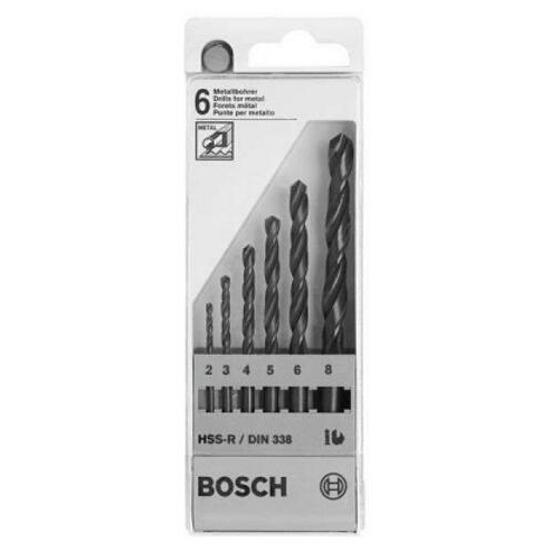 Zestaw wierteł do metalu HSS-R, DIN 338 2-8mm 6szt. 2607018352 Bosch