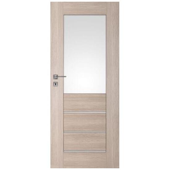 Drzwi okleinowane Premium 2 dąb bielony ryfla 80 prawe zamek na klucz zwykły DRE