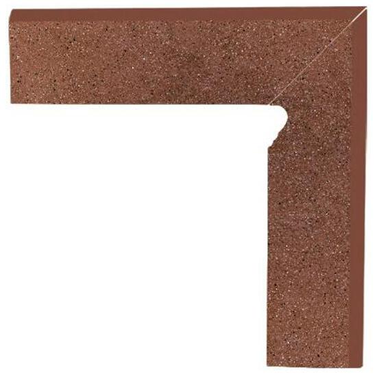 Klinkier Taurus Brown cokół dwuelementowy schodowy prawy 8,1x30 Paradyż