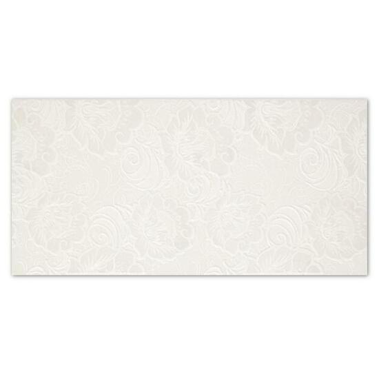 Płytka ścienna Ricoletta Bianco inserto Kwiaty 29,5x59,5 Paradyż