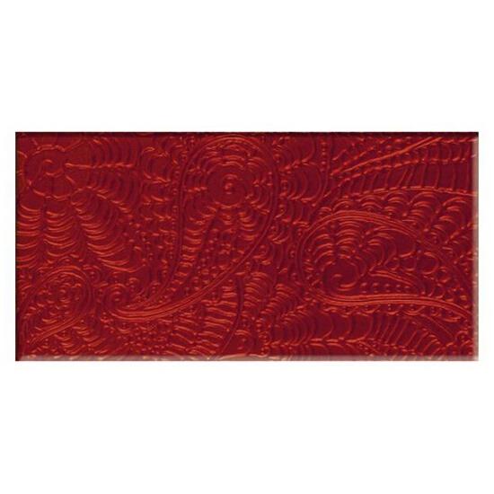 Płytka ścienna Ricoletta Karmazyn inserto szklane 29,5x59,5 Paradyż