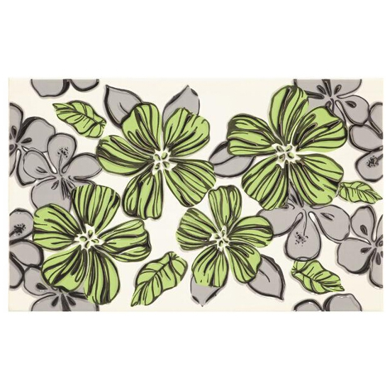Płytka ścienna Vivian Verde inserto Kwiat 25x40 Paradyż