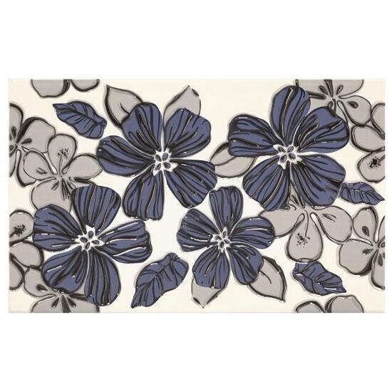 Płytka ścienna Vivian Blue inserto Kwiat 25x40 Paradyż
