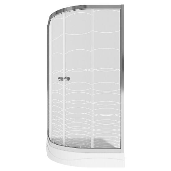 Kabina prysznicowa półokrągła Toscana 80 profil chrom szkło mrożone S142-001
