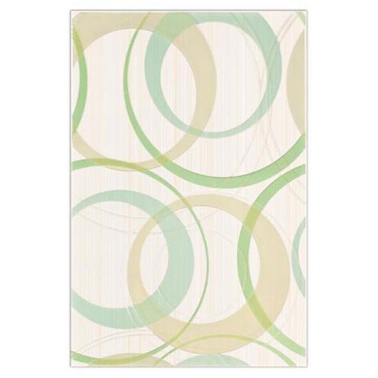 Płytka ścienna inserto koła 30x45 Atola bianco/ verde