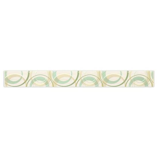 Płytka ścienna koła 4,8x45 Atola bianco/ verde