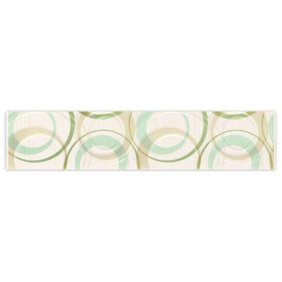 Płytka ścienna koła 6,5x30 Atola bianco/ verde