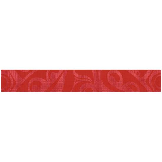 Płytka ścienna Optica red border circles 5x35
