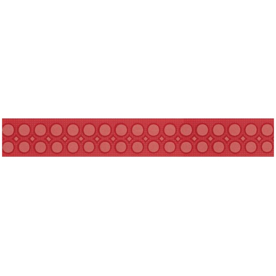 Płytka ścienna Optica red border modern 5x35