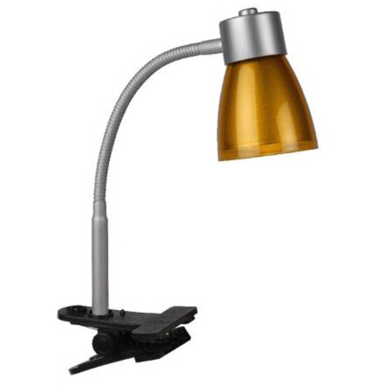 Lampa biurkowa Playto clips 1x40W E14 orange 18605/11/53 Lucide