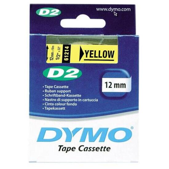 Taśma bazowa D2, 12mm/10m, żółty Dymo