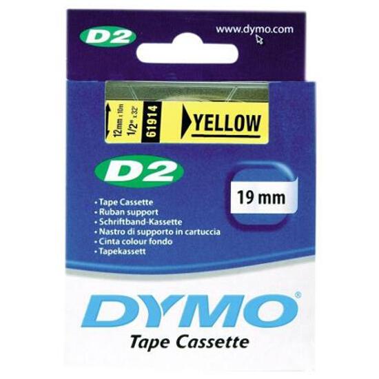 Taśma bazowa D2, 19mm/10m, żółty Dymo