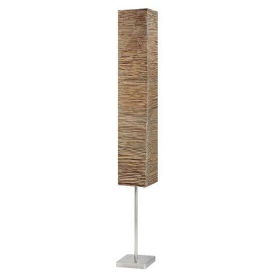 Lampa podłogowa Nerva 2x40W E14 srebrny, brązowy 92603/20 Brilliant