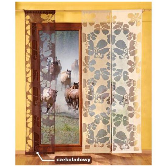 Panel Kwiaty 9897 50x240 czekoladowy Wisan