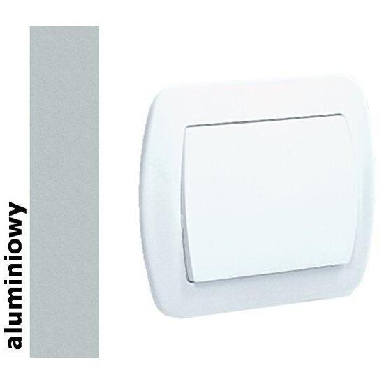 Łącznik Akord jednobiegunowy AW1/26 aluminium srebrny Kontakt Simon