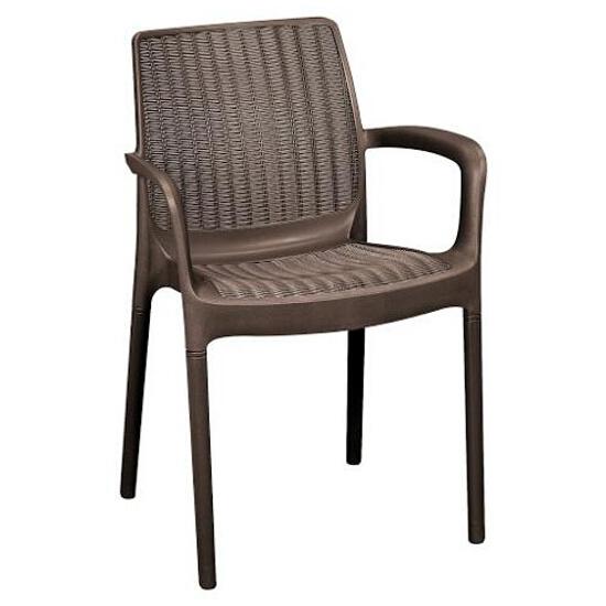 Krzesło ogrodowe sztaplowane Bali brązowe CU202761 Bazkar