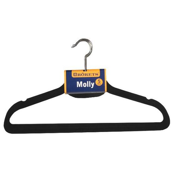 Wieszak Molly czarny 5szt Rorets