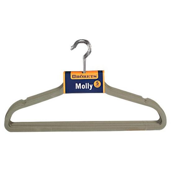 Wieszak Molly szary 5szt Rorets