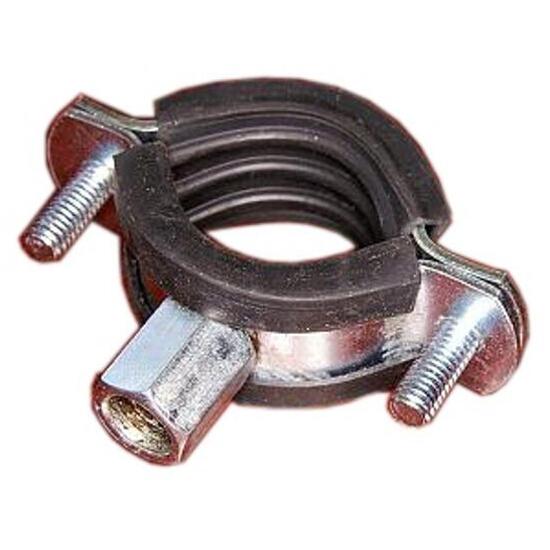 """Obejma do rur stalowa z gumową wkładką tłumiącą 32mm (na rurę 1"""") Benox"""
