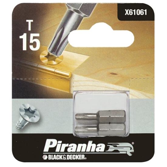 Końcówka wkrętakowa T15/25 2szt. Piranha