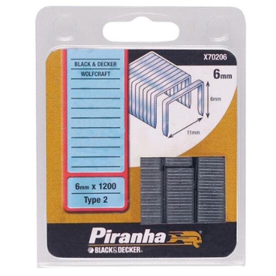 Zszywki 6mm TYP2, 1200szt. X70206 Piranha