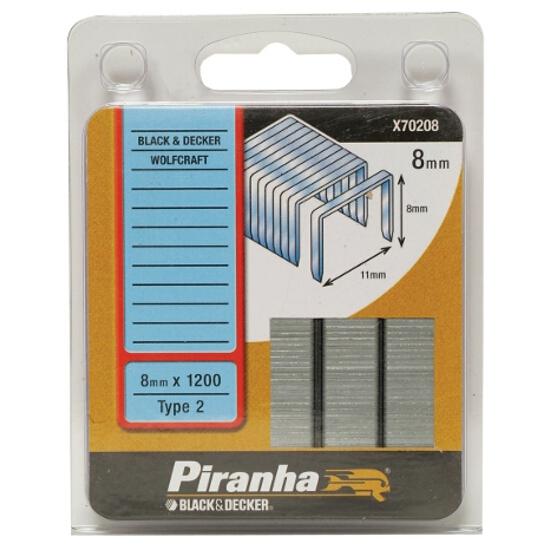 Zszywki 8mm TYP2, 1200szt. X70208 Piranha