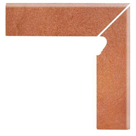 Klinkier Solar orange cokół schodowy prawy 3-d 30x8