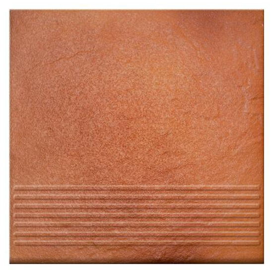 Klinkier Solar orange stopnica 3-d 30x30
