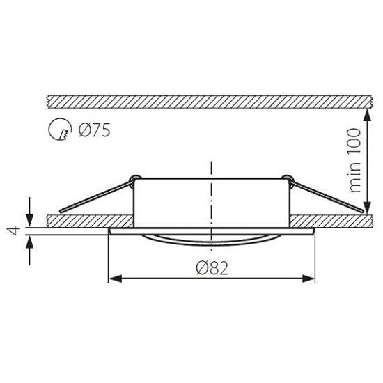 Oprawa punktowa sufitowa VIDI CTC-5515-AN miedź Kanlux