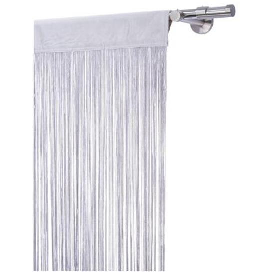 Firana sznurkowa makaron spagetti lux 250x160 srebrny Mardom