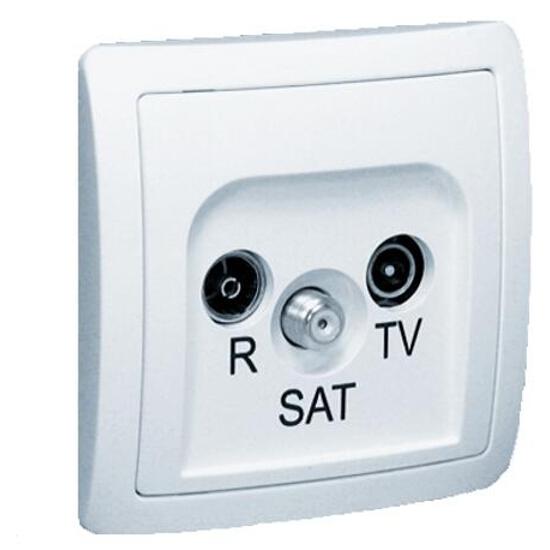 Gniazdo ścienne Basic anten. RTV-SAT końcowe BAS/11 biały Kontakt Simon