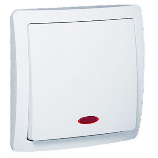 Łącznik Basic jednobiegunowy z podśw. BW1Le/11 biały Kontakt Simon