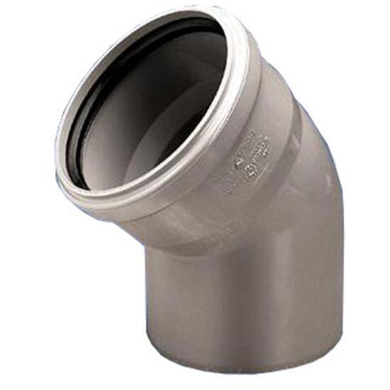 Kolano kanalizacyjne PP wew. 110x45° popiel Wavin